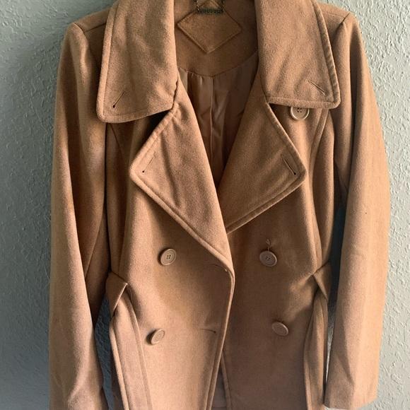 Jou Jou Jackets & Blazers - JouJoe camel pea coat